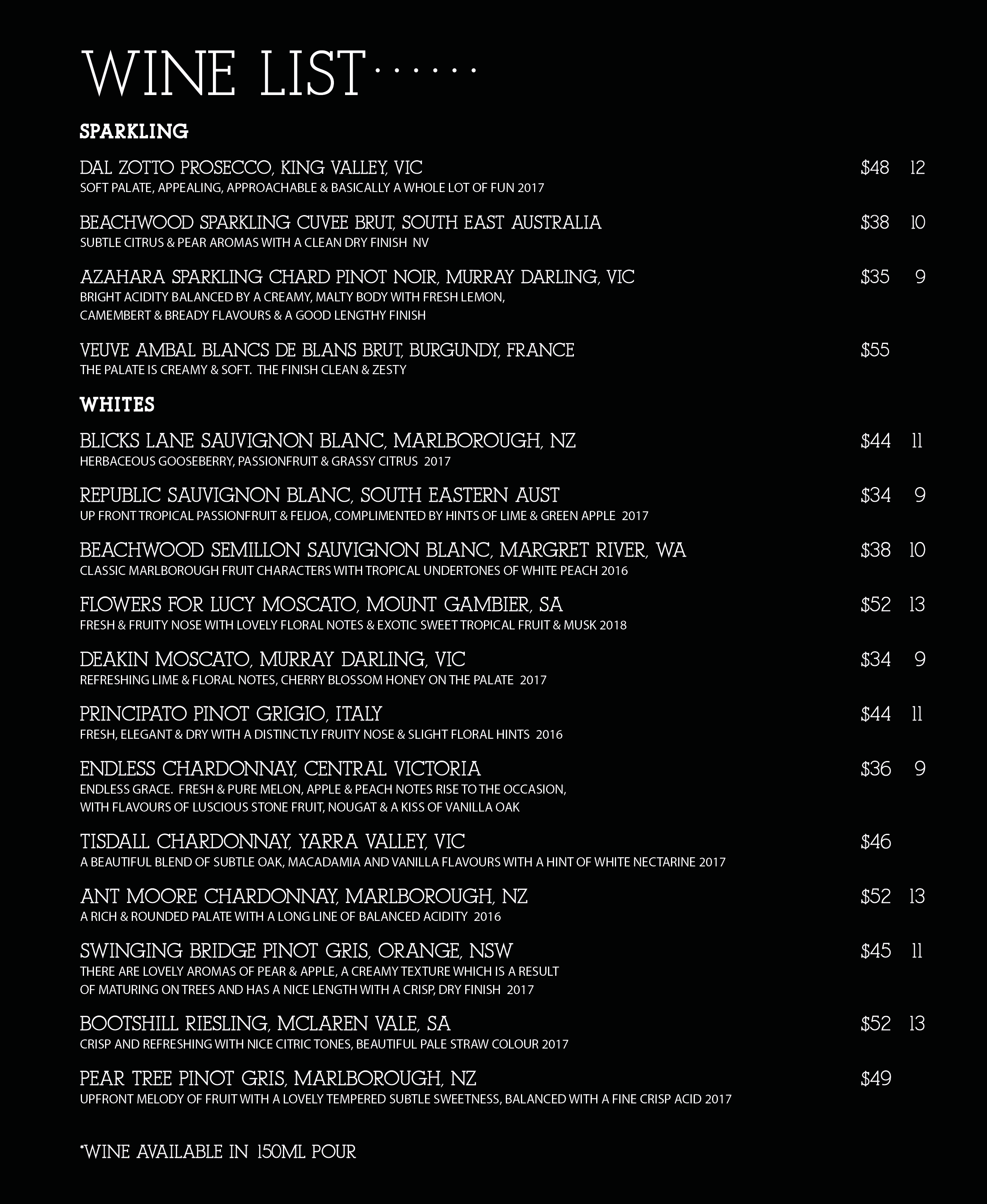 Wine List 1 Aug 2018 Mr Jones Menu 08