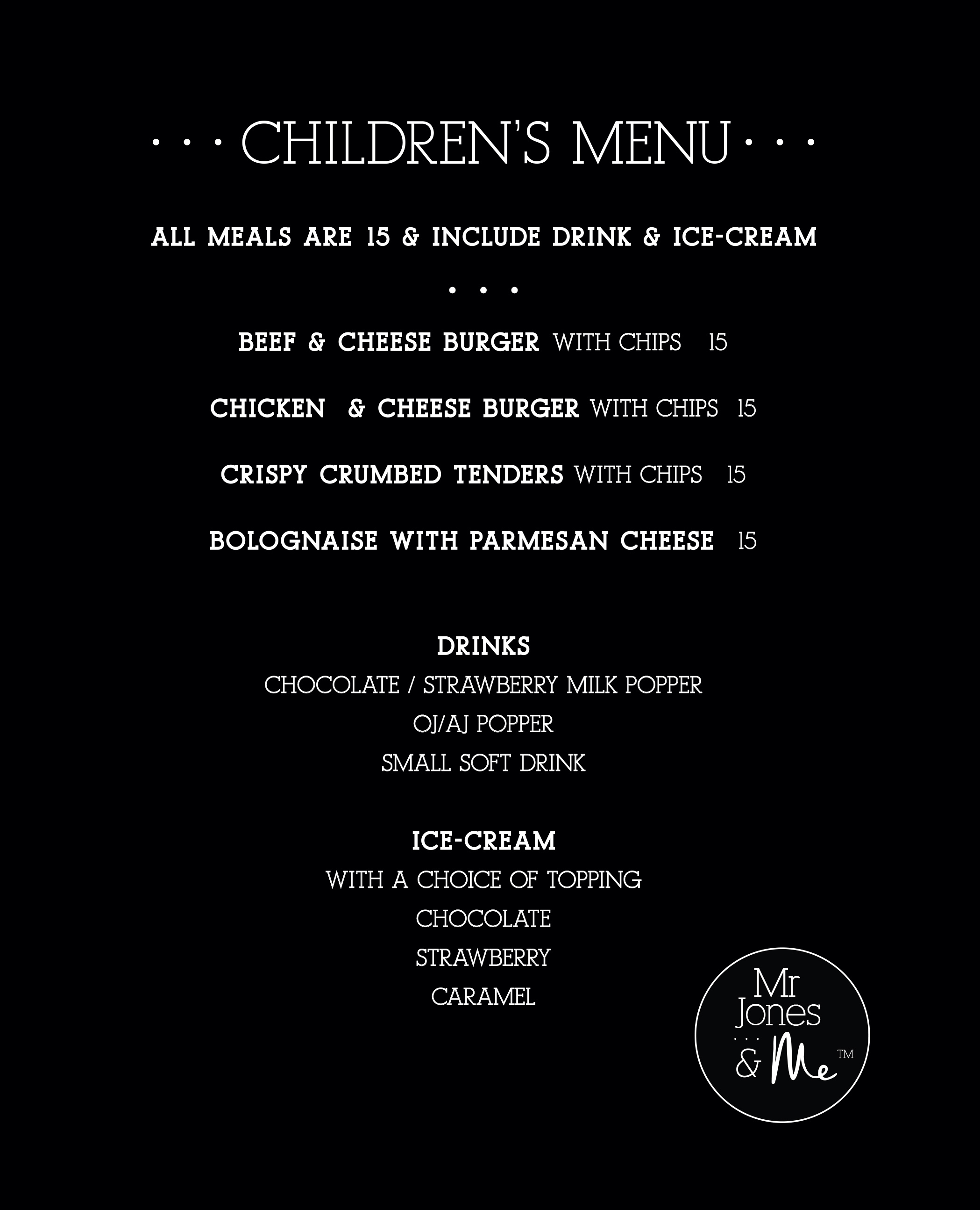 Kids June 2019 Menu