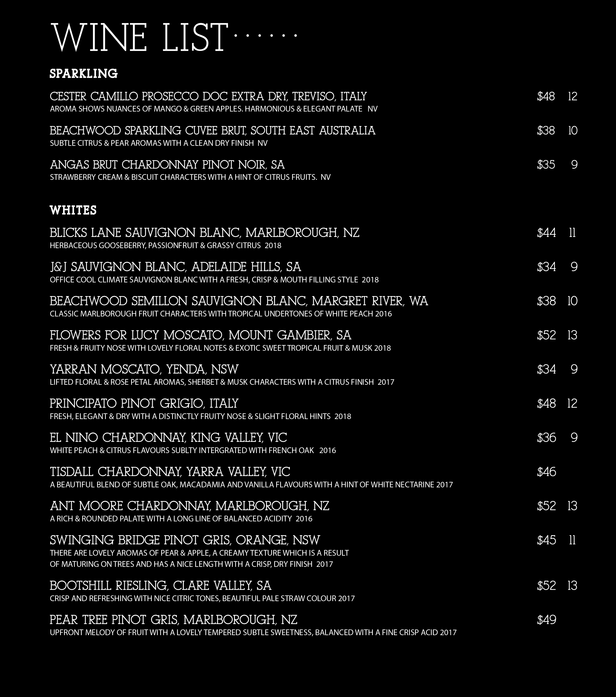 White Wine Sep 2019 Menu Copy