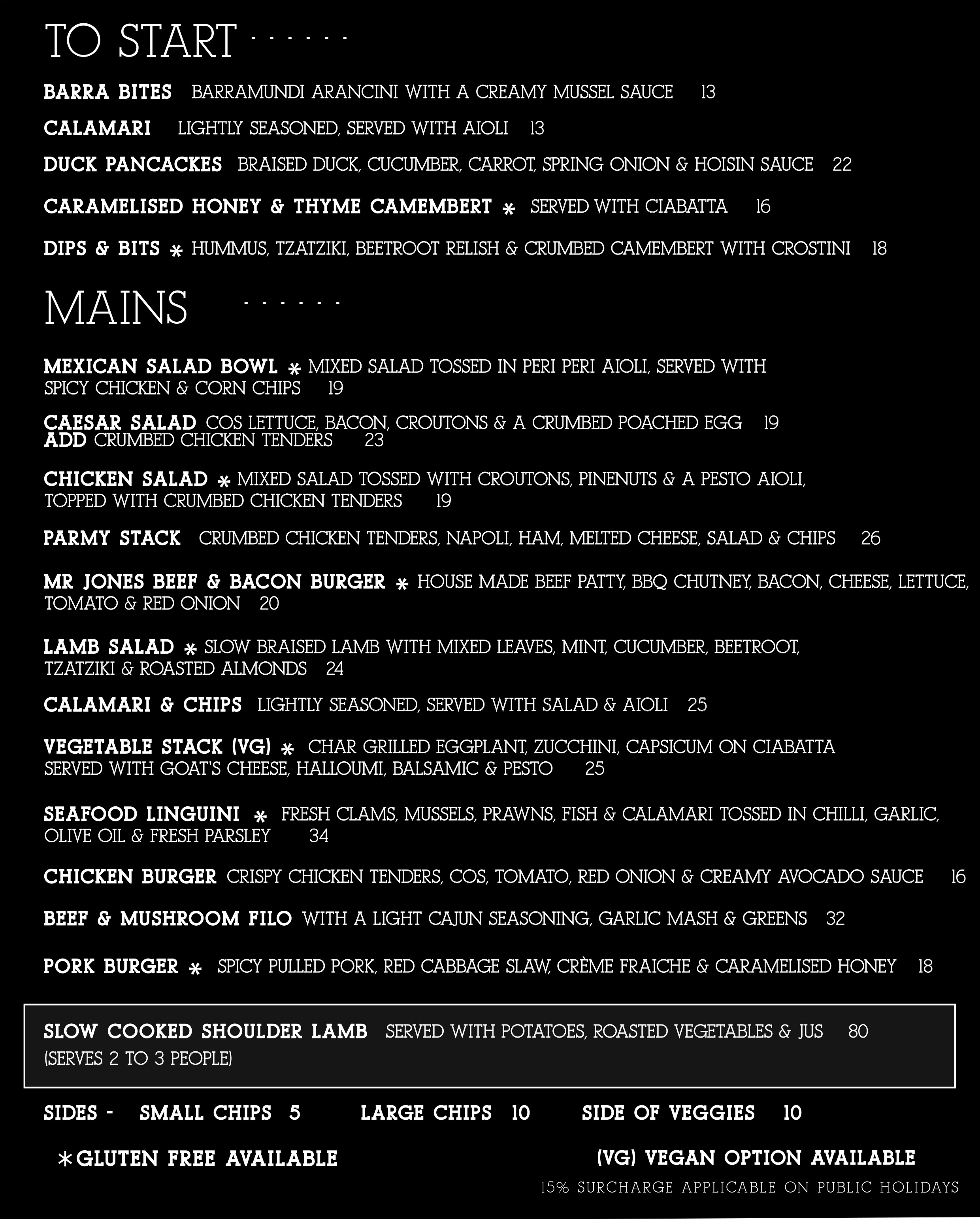May 10 Pax Dine In Mains