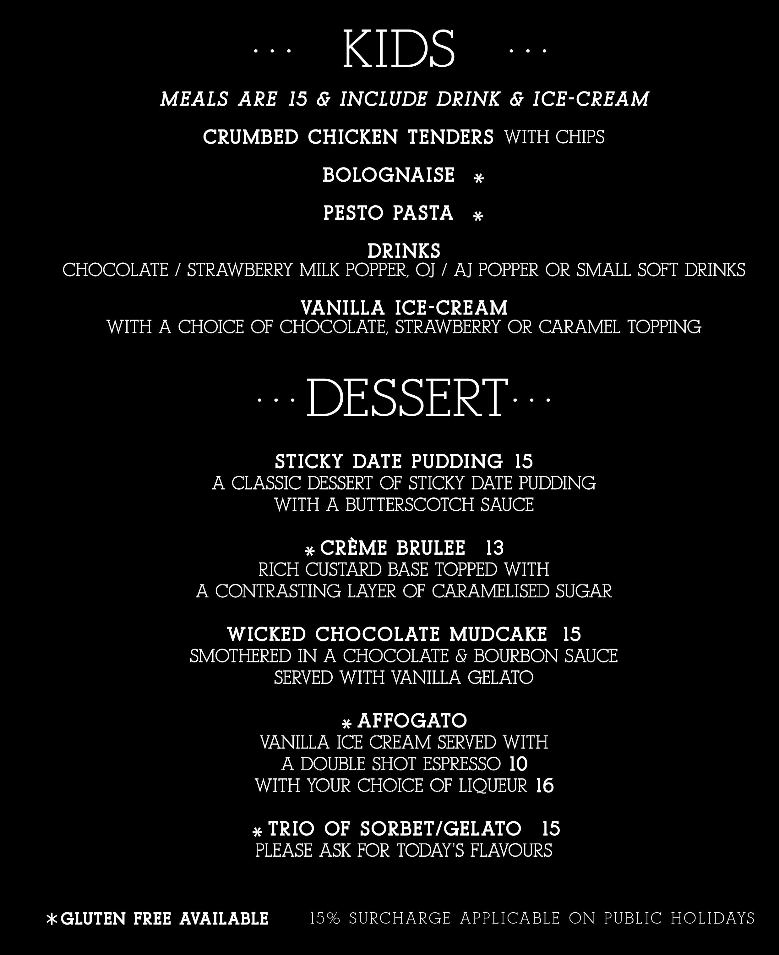 Desserts June 2020